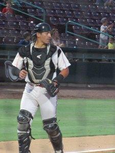Padres prospect Brandon Valenzuela plays for the Lake Elsinore Storm