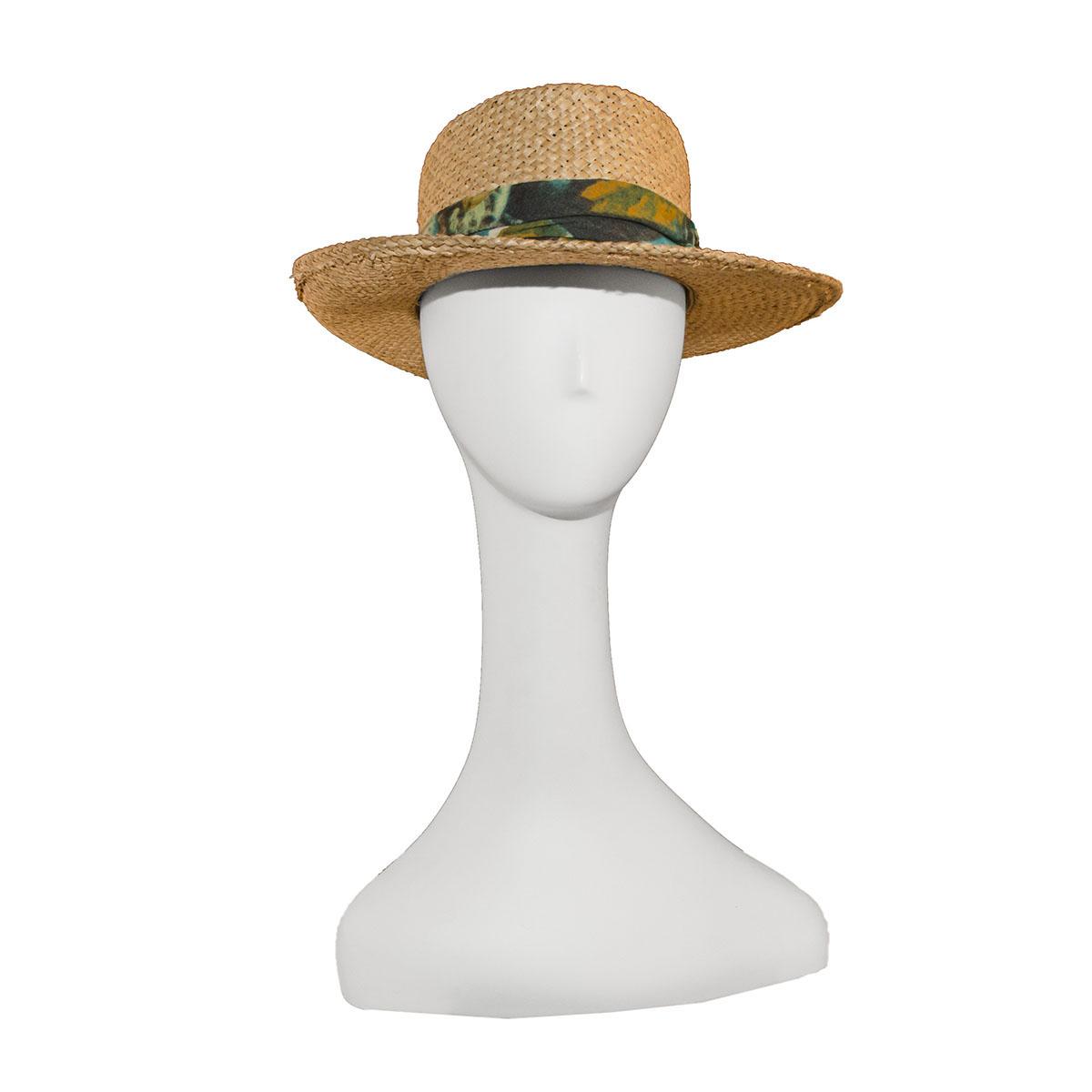 Unisex wide brim straw hat
