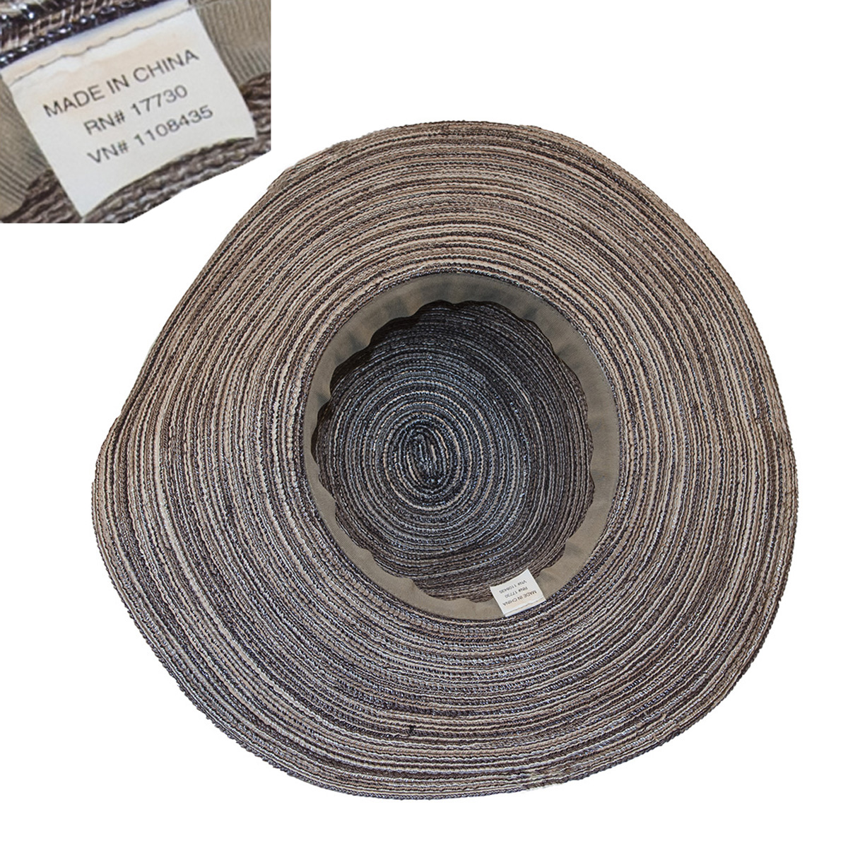 grey straw hat