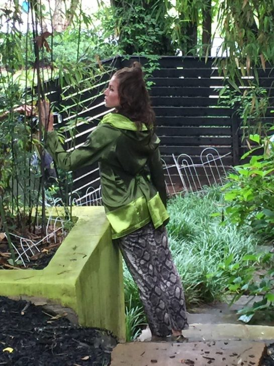 Vintage Michael Kors and reversible green jacket