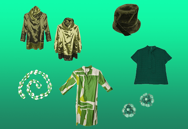 Vintage green fashion for St. Patrick's Day