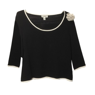 St. John Knit Top with Flower