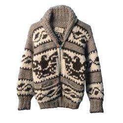 Canadian First Nations Cowchin Cardigan Sweater, Thunderbird Design