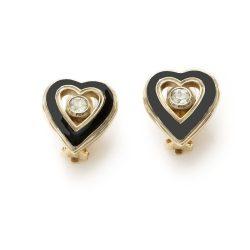 Vintage Christian Dior Heart earrings