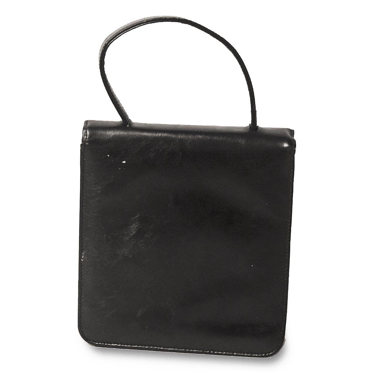 1950s Black Cocktail Bag, Rhinestone Closure