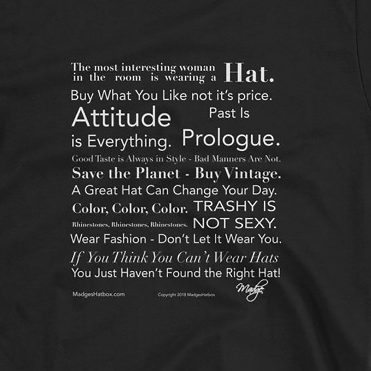 MadgesHatbox t-shirt