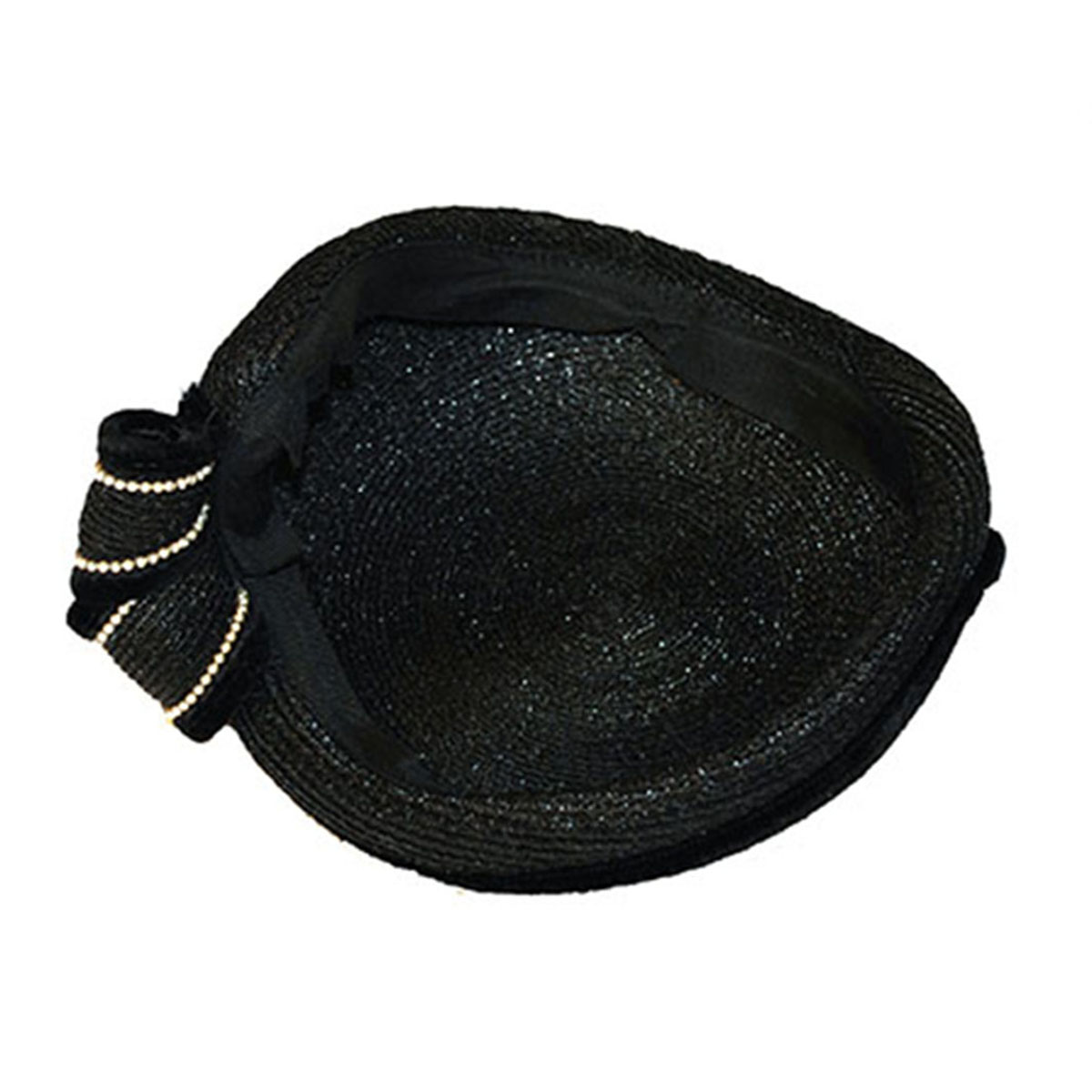 hat with pearls