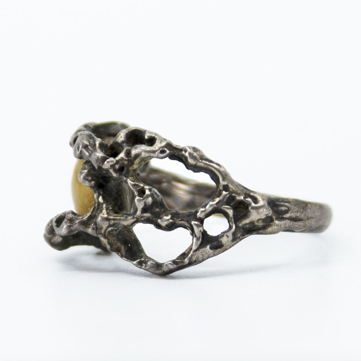 open work silver ring