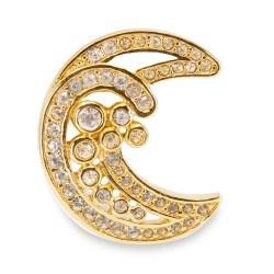 Dior Crescent moon pin