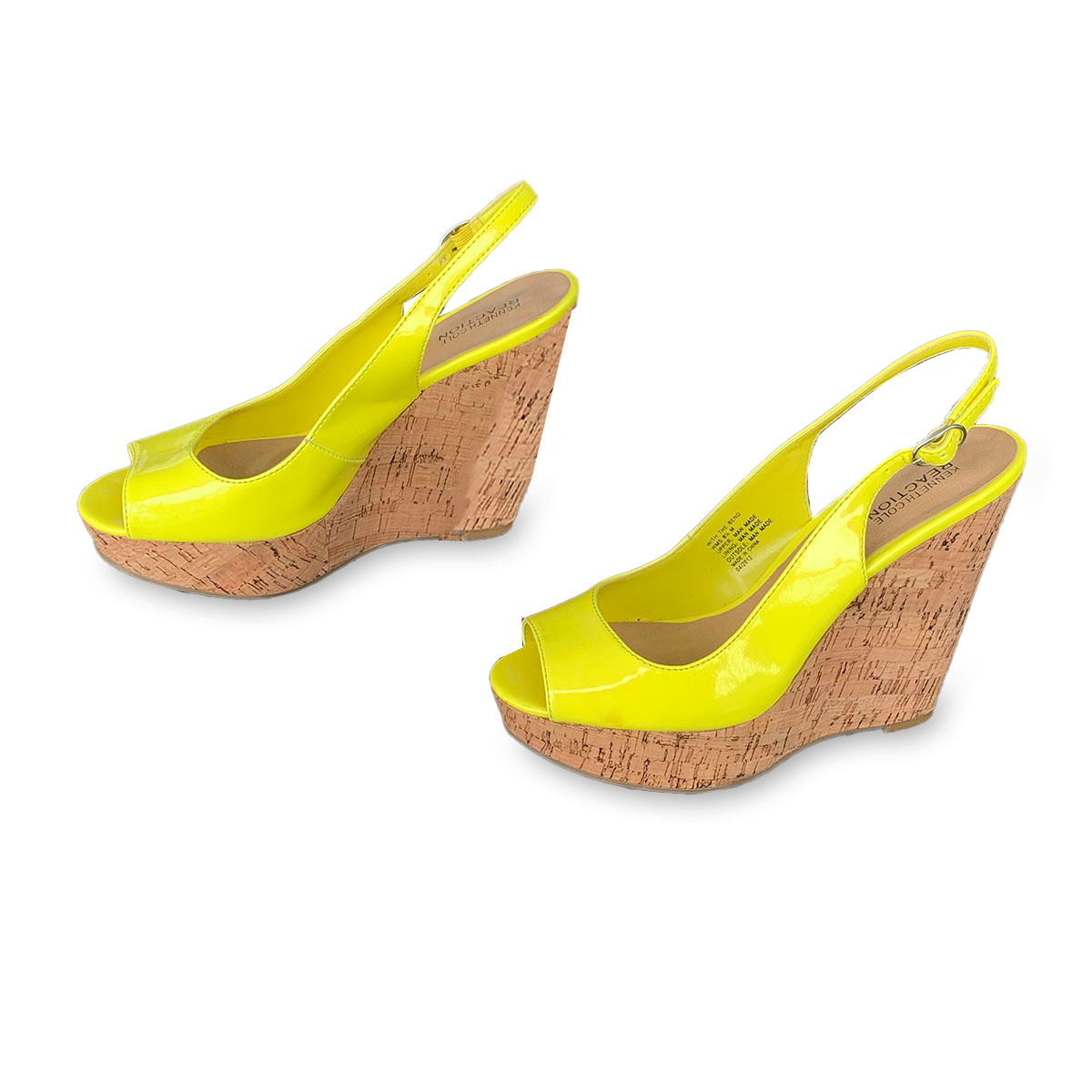 kenneth cole shoes with cork wedges