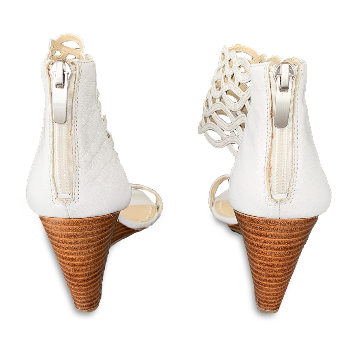 vintage white sandals
