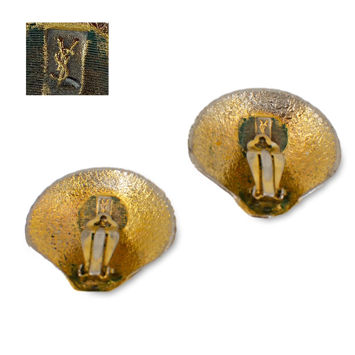 YSL clip earrings