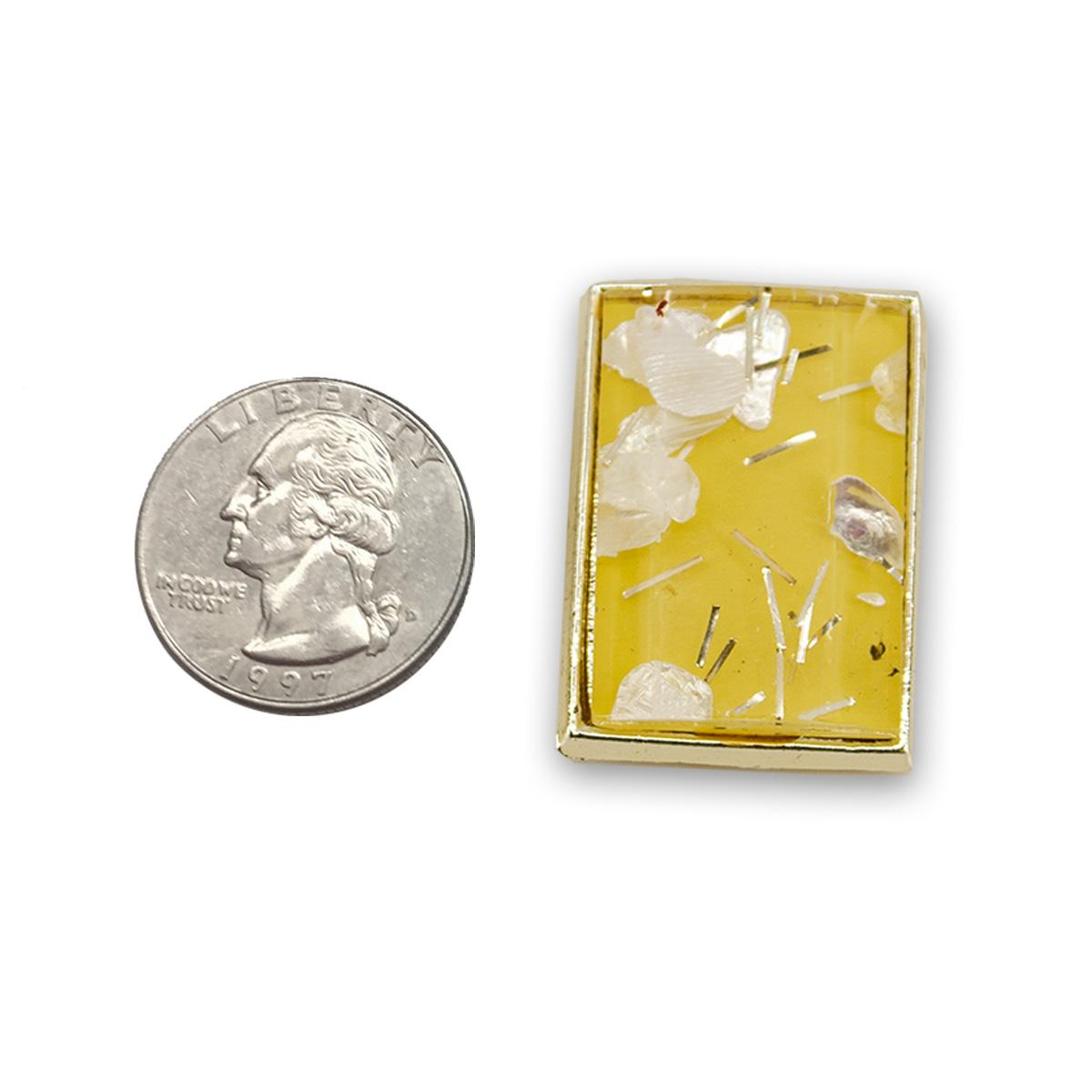 vintage yellow confetti earrings