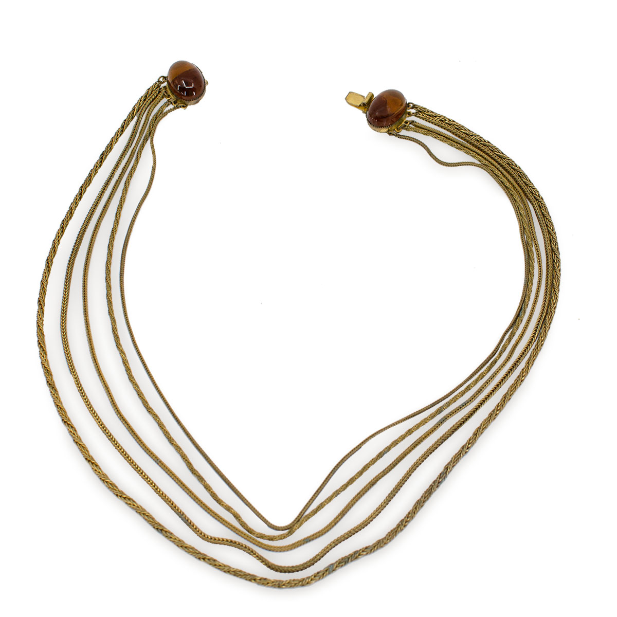gold multistrand necklace
