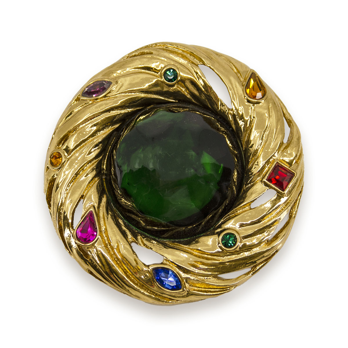 ysl swirl brooch pendant