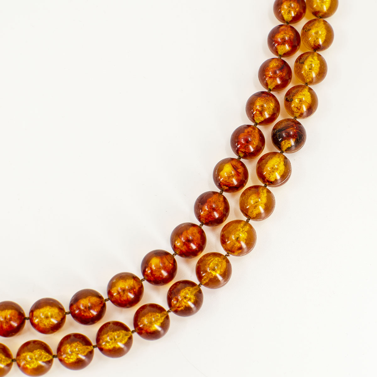 amber colored beads