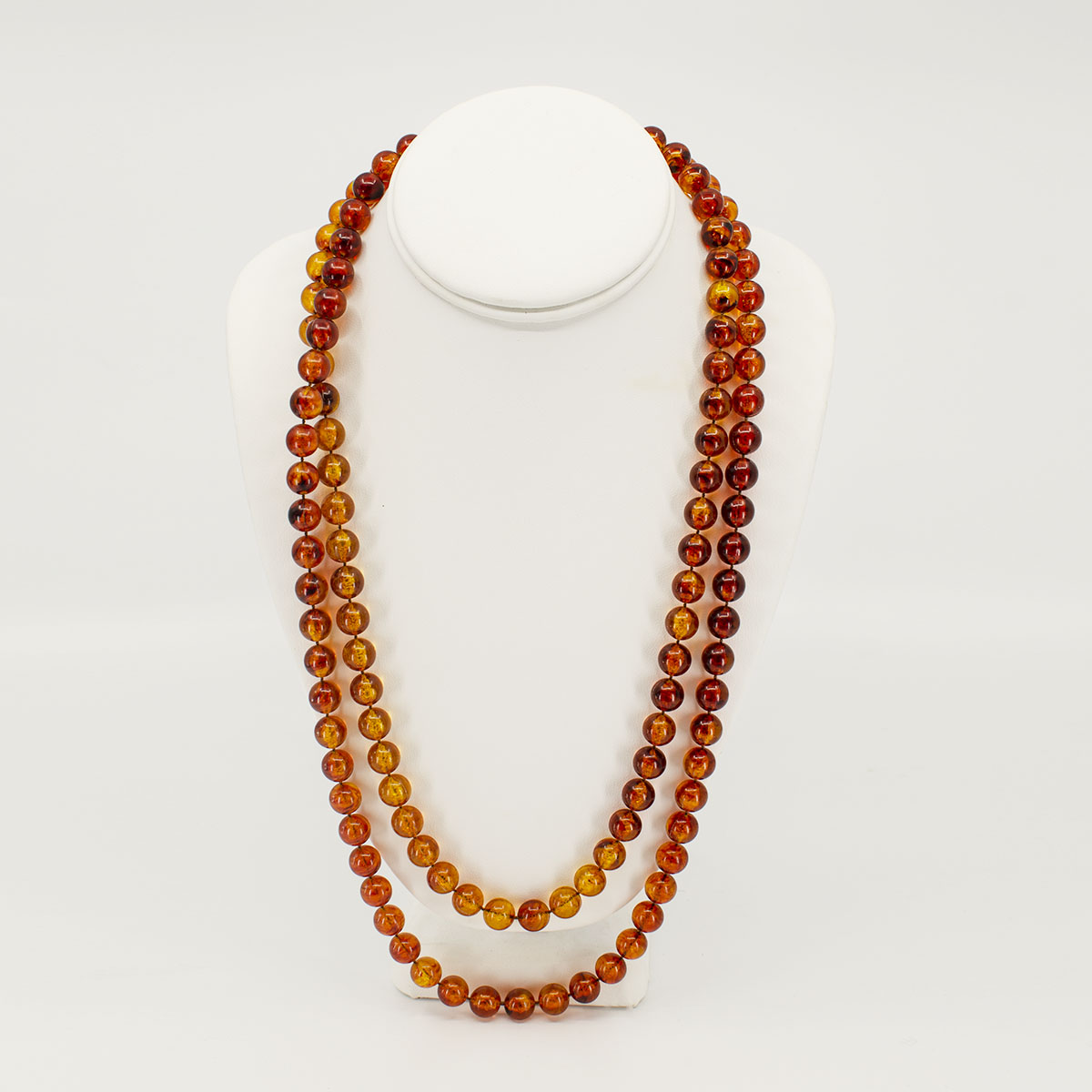 multistrand amber bead necklace