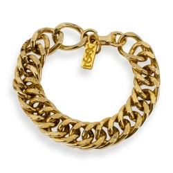 YSL curb chain bracelet, yves saint laurent jewelry