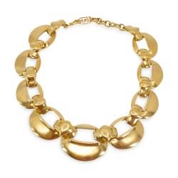 ysl gold link necklace