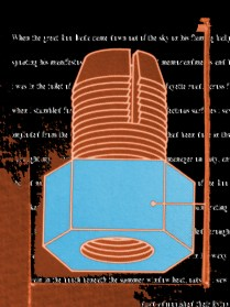 1163 and the Blue Balled Boo Dada, 2013; Digital collage, poem; Image: 23 x 31 inches