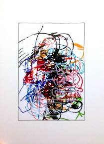 [Boxxed II], 2015; 23 potential marker choices on paper mounted to board; 8x10 inches, object size