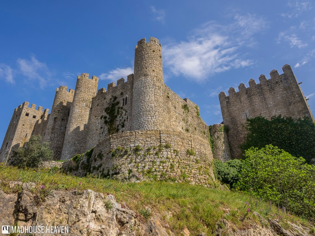 Castle walls and towers in Óbidos, Estremadura area, Portugal
