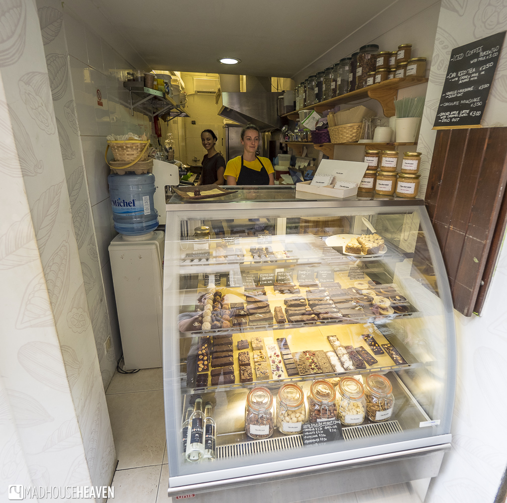 Vegan confectionery at Theobroma, one of the best places for food in Valletta