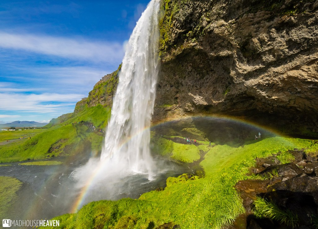 Path that leads behind the Seljalandsfoss Waterfall in Iceland