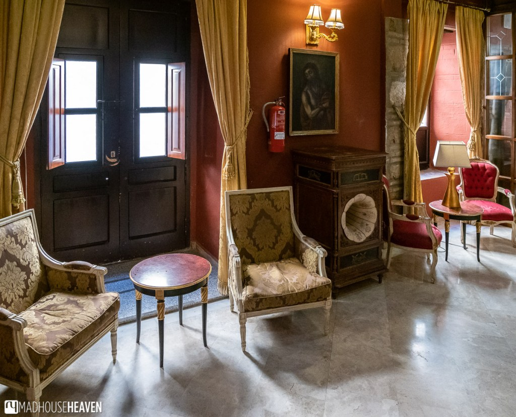 The reading room of a hotel in Córdoba