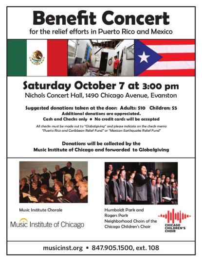 Benefit Concert for the relief efforts in Puerto Rico and Mexico
