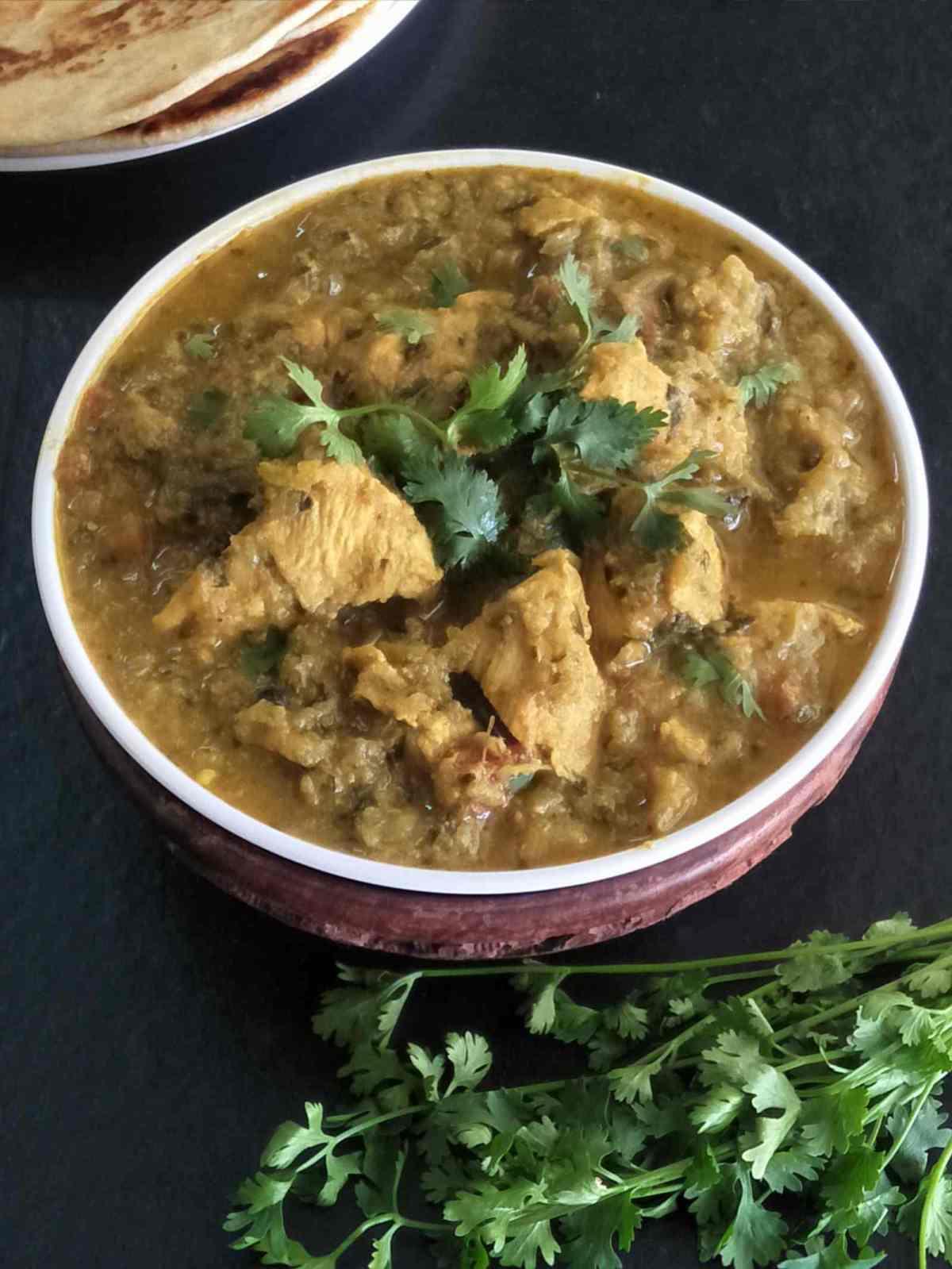 Methi made with Madhuban Bhoona Sauce