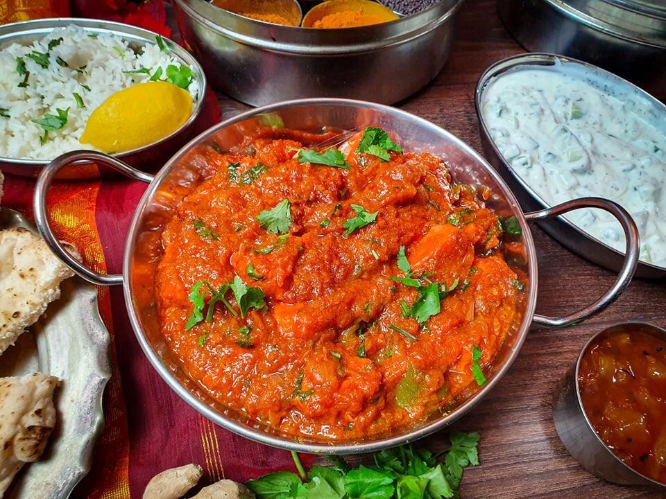 Patia made with Madhuban Madras Sauce