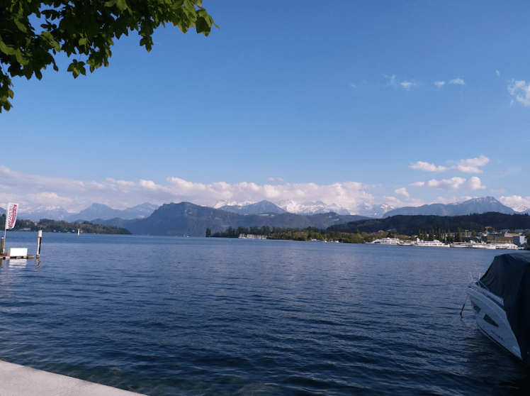 Lake lucern & mountains