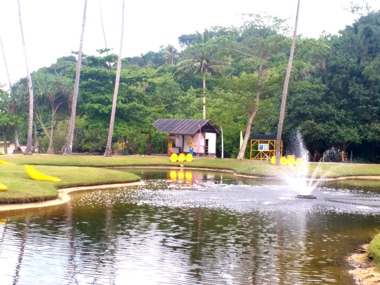 Fishing pond-Nirwana gardens,Bintan