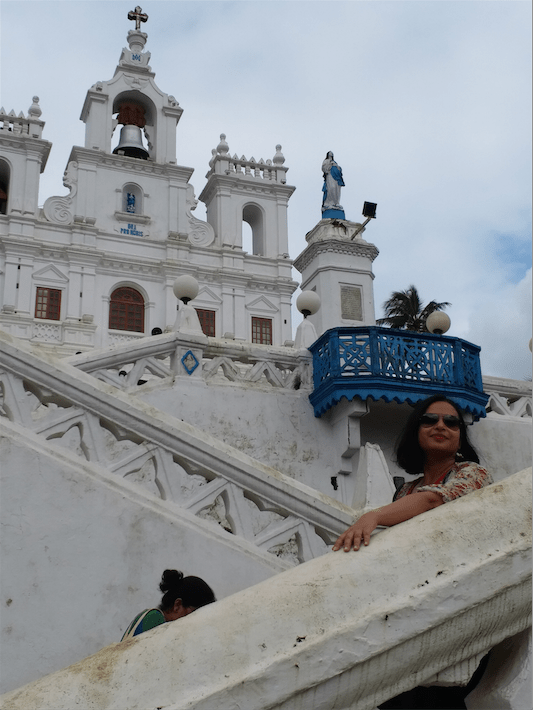 Crisscross stairs, Panaji Church Goa.png