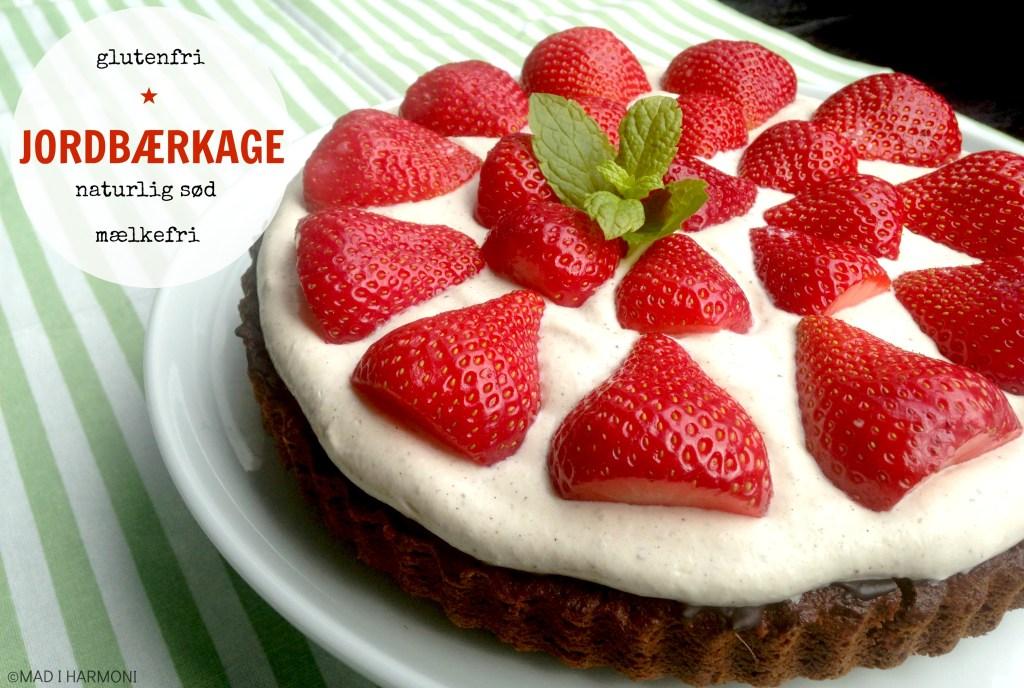 Jordbærkage, glutenfri, mælkefri og naturlig sød