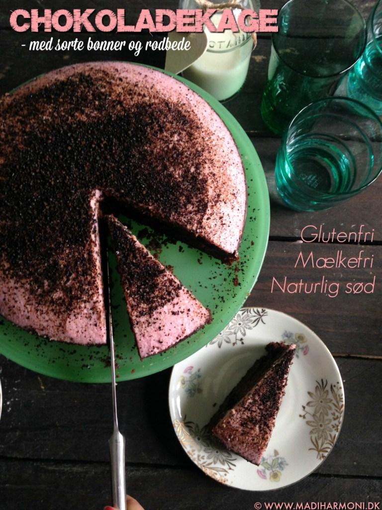 Chokoladekage med bønner og rødbede