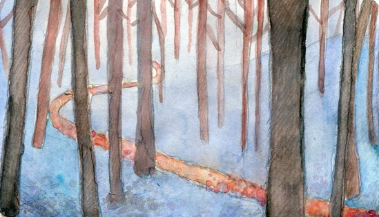 """Part One of """"Trails"""" -- a group of paintings, painted by myself"""