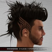 pin tribal hair design men