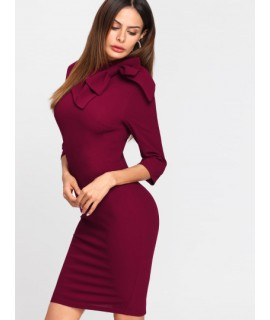 robe trompette bordeaux
