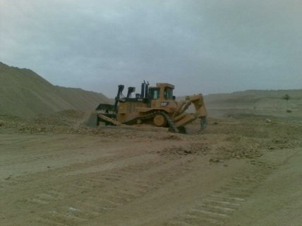 MCC D10T in south Egypt phosphate mines