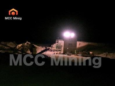 MCC Crusher at night