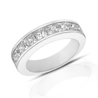 2.00 ct Princess Cut Diamond Wedding Band Ring In Channel ...