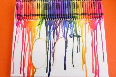 Melted Crayon Art Display