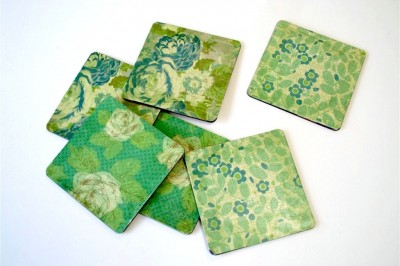 Custom Mod Podge Coasters with Amy Anderson
