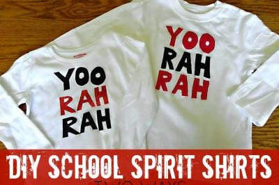 DIY School Spirit Shirts — Two Ways