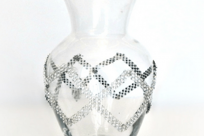 Geometric Jeweled Vase (for Weddings or Home Décor)