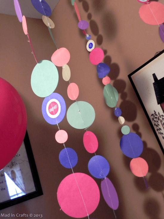 Sew an Easy Polka Dot Paper Garland