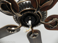 Replacing a Broken Ceiling Fan Bracket - Mad in Crafts