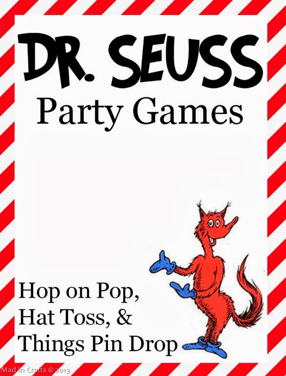 Homemade Dr. Seuss Party Games